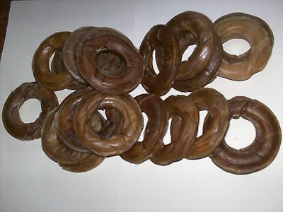 20 X 3 Inch Natural Rawhide Donut Rings -  Dog Treats/chews