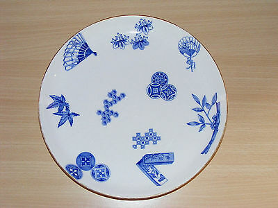 """Antique Japanese Inspired C.1878 Royal Worcester Aesthetic Movement 9"""" Plate"""