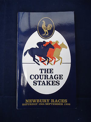 X - Horse racing - Race Card - Newbury - 19 September 1998 - Courage stakes