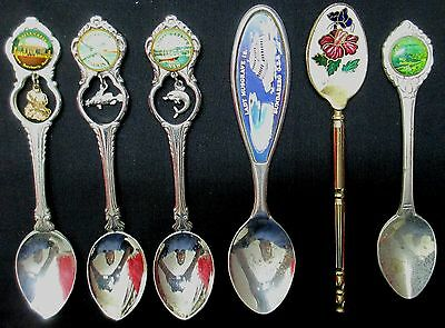 6 collectable spoons - vintage