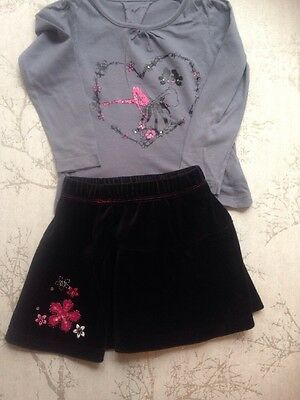 Girls Top & Skirt Age 2-3 Years