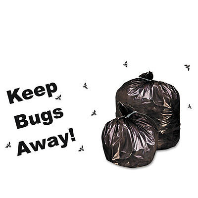 Stout Insect-Repellent Trash Garbage Bags, 35gal, 2mil, 33 x 45, BLK, 80/Box