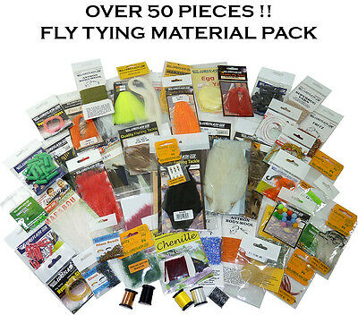 *CLEARANCE* OVER 50 Assorted Fly Tying/Dressing Materials LESS THAN HALF PRICE!!