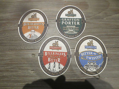 4 Different GALBRAITH BEER  Breweries NEW ZEALAND,collectable COASTERS