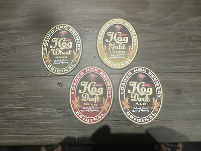 4 Different LOADED HOG  Breweries NEW ZEALAND,collectable COASTERS