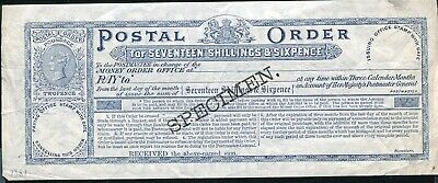 Great Britain Queen Victoria Specimen Postal Order