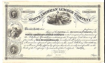 North American Lumber Company.....1800's Unissued Stock Certificate