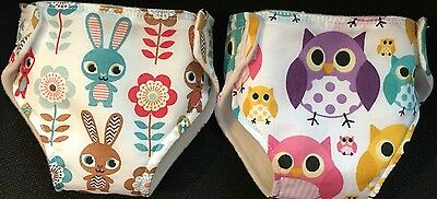 """2 Baby Annabell Reborn baby Born Reusable Nappies 15-18"""" Dolls Clothes Outfit"""