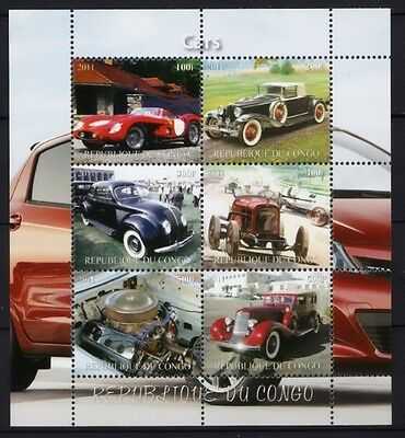 Bloc feuillet Neuf ** MNH - Congo 2011 - Voitures anciennes Classic cars