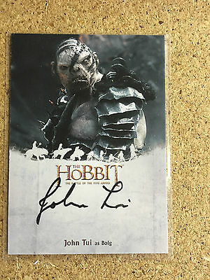 Cryptozoic The Hobbit Five Armies John Tui as Bolg Autograph Auto Card LOTR