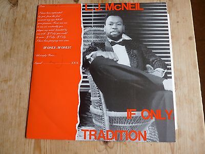 """LJ McNeil and Tradition signed 12"""" If Only plays EX but warped lovers reggae"""