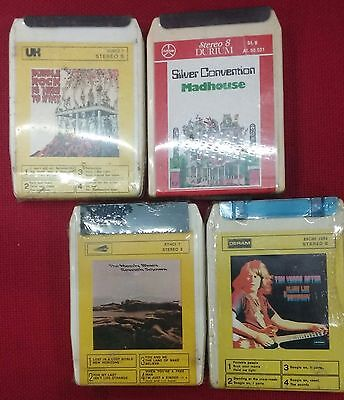 Lotto Stock 4 Cassette Stereo 8 Track Ten Years After Moody Blues Sealed