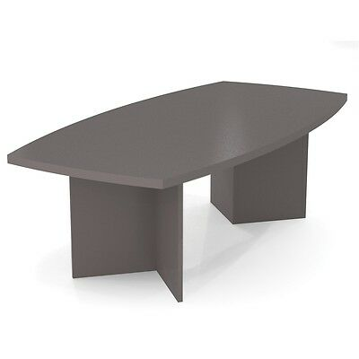 """Bestar BESTAR boat shaped conference table with 1 3/4"""" melamine top in Slate"""