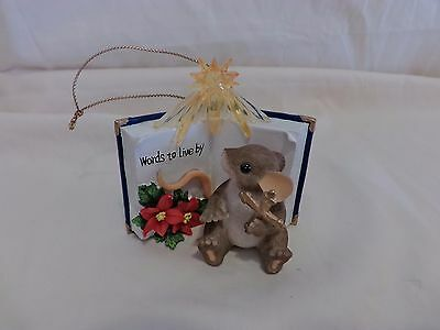 Charming Tails SIGNED WORDS TO LIVE BIBLE GOOD BOOK  BY ORNAMENT  DEAN GRIFF(43)