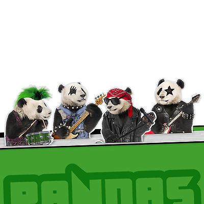 Panda's Rock Magnetic Metal Bookmark Page Marker Pack of 4 - NEW