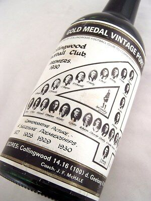 1930 Gold Medal Collingwood Premiership HOFFMANNS 1980 Vintage P Isle of Wine