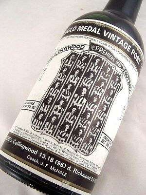 1928 Gold Medal Collingwood Premiership HOFFMANNS 1980 Vintage P Isle of Wine