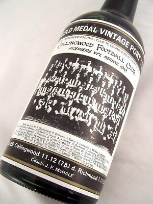 1919 Gold Medal Collingwood Premiership HOFFMANNS 1980 Vintage P Isle of Wine
