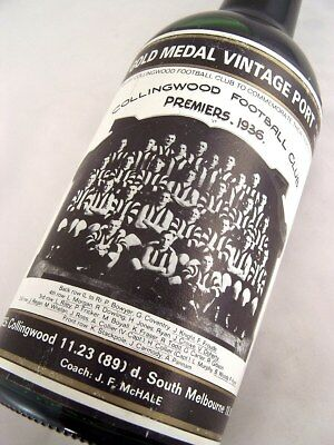 1936 Gold Medal Collingwood Premiership HOFFMANNS 1980 Vintage P Isle of Wine