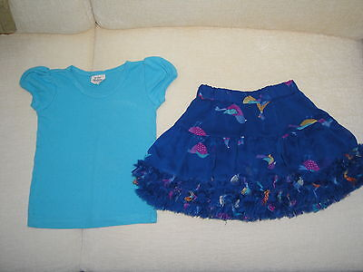 Joules girls skirt and top age 3-4 years