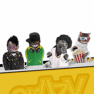 Crazy Cat's Magnetic Metal Bookmark Page Marker Pack of 4 - Valentines Day NEW