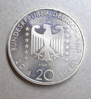 """20 Euro  € Germany 2016 """"Nelly Sachs"""" Silver Coin"""
