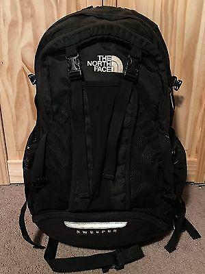 The North Face Black Backpack Sweeper Hiking  School Pack
