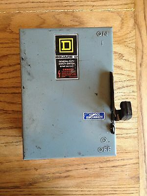 Square D 30 Amp 240 Vac General Duty Safety Switch Du321 Series E2 3 Phase