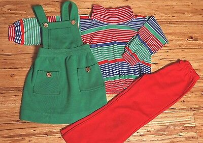 EUC Vintage Carter's Health-Tex Romper, School 3 piece Set, Made in USA Size 5