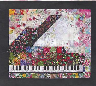 Piano watercolor quilt kit by Whims Watercolor