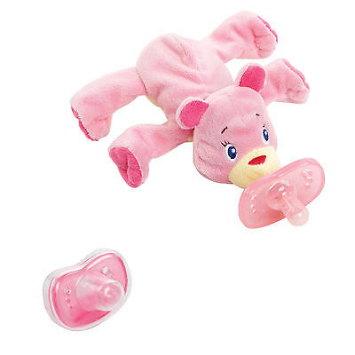Brand NEW Bright Starts Cozy Coos Deluxe, Pink Cub NIB Pacifier Baby Infant Gift