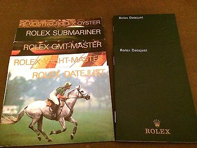 Rolex Booklet Libretti Submariner-Gmt-Master-Yacht-Master-Datejust-Oyster