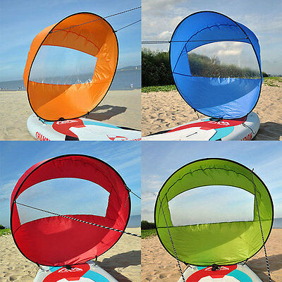 "42"" Kayak Wind Paddle Sailing Popup Board Sail Rowing Downwind Boat Clear Window"
