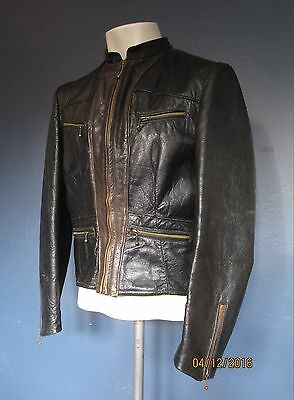 Stunning Vtg 1930's German Leather Motorcycle  Flight Jacket Coat 1940s