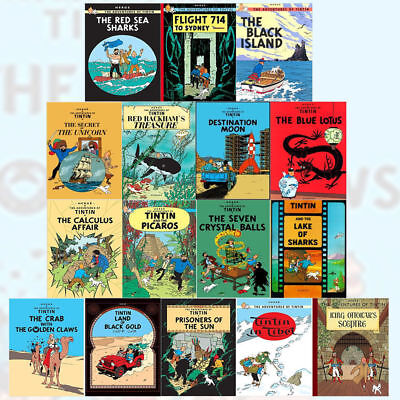 Tintin Comic Books Series Set for Children - Brand New 16 Graphic Books by Herge