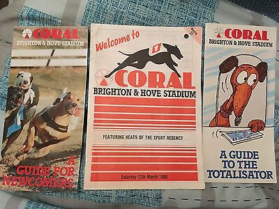 Brighton & Hove Stadium Greyhound Racecard 12th March 1988 Coral