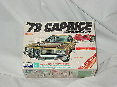Mpc 1973 Caprice 1/25 Scale Model Kit Guaranteed Complete  1-7304-250