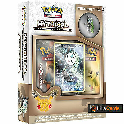 Pokemon Meloetta Mythical Collection Box: Generations Booster Packs + Promo Card