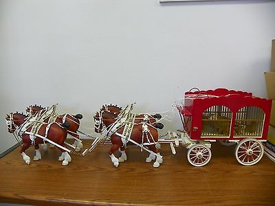 BREYER #80 Clydesdale Stallion Drafter Full Leather Harness Circus Wagon Set