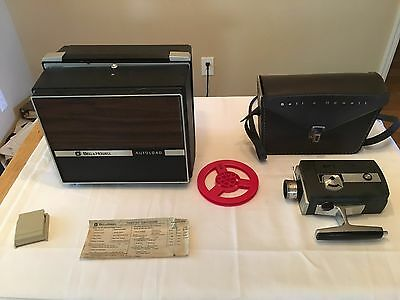 Vintage Bell Howell Autoload Super 8 Projector and Camera UNTESTED