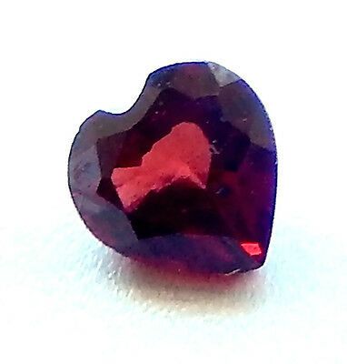 Madagascar Garnets  Heart Shapes in Large 7x7 Mm.   All Natural   1 Piece