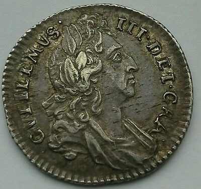1696 William Iii Silver Sixpence **collectors Coin**