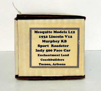 Mesquite Models 1/43 Box Only for 1932 Lincoln V12 Murphey KB Sport Roadster L12
