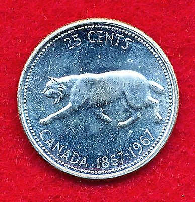 Canada 1967 25 CENTS  .1500 ounces of SILVER!