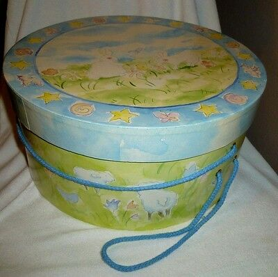 """Hat Box Bannies 1 3/4"""" Collectible, Clothing, Accessory Storage Box"""