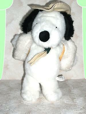 """Peanuts/ Snoopy! Large Plush Peanuts 12"""" Tall Scout? With Hat & Woggle!"""