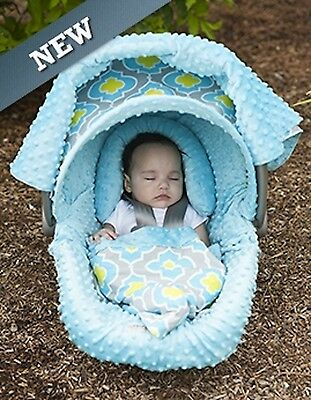 Carseat Canopy Caboodle Infant Car Seat Canopy Cover 5 piece Set Covers Kennedy