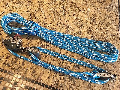"Harken 40Mm Carbo 5:1 Mainsheet, Block/tackle, Vang With 40' New 5/16"" Line"