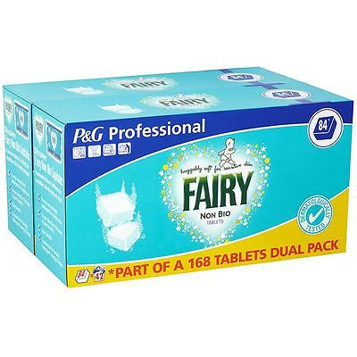 Fairy Non Bio 168 Washing Tablets Sensitive Skin Laundry Tabs Detergent 84 Wash