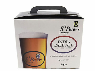 St Peters Brewery India Pale Ale 3 Kg Beer Kit 32 Pints 18 L. Homebrew Home Brew